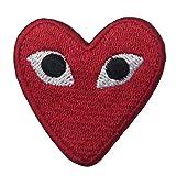 CasStar Aufnaeher Aufbuegler Patches Applikation Buegelbild Play Comme des Garcons Red Heart Eyes