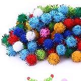 15 mm 100 piezas/conjunto de colores de la mezcla de Navidad esponjoso de peluche pompón bola de pelo de la bola de manualidades DIY decoración fiesta actividades festivas suministros