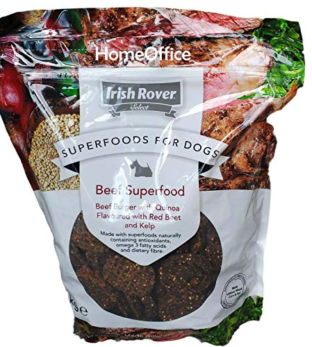 Irish Rover Dog Treats Beef Superfood Beef Burger Meat Treats with Quinoa Flavoured with Red Beet and Kelp1Kg
