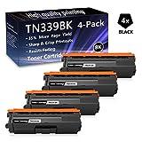 4 Pack (Black) TN339 BK Super High Yield Toner Cartridge Replacement for Brother 9460CDN MFC 8600CDW L8600CDW L8650CDW L9550CDW DCP 9050CDN 9270CDN L8400CDN HL L8250CDN L8350CDW L9200CDW Printers.
