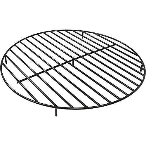 Sunnydaze Fire Pit Grate - Heavy-Duty Steel - Round Firewood Grate for Outdoor Firepits - 40-Inch Black
