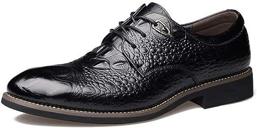 HhGold Herrenschuhe Leder Frühling Herbst Winter Neuheit Formale Schuhe Spitz Hochzeit Casual Party & Abend Business-Schuhe (Farbe   On, Größe   44)