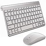 ワイヤレス キーボード マウス セット 2.4GHz無線配列 USB充電 薄型設計 自動スタンバイ機能備え MAC OS、Windows10/8.1/7/XP/Vista、Linux、PS4、スマートTV対応