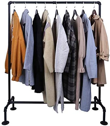 OROPY Industrial Pipe Garment Rack Free Standing Heavy Duty Detachable Clothes Rail with 4 Stable product image