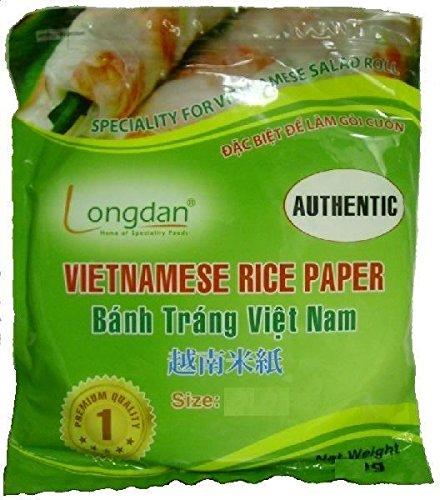 Rollo de papel de arroz vietnamita comestible, redondo, 22 cm, 500 g, para verano, frito
