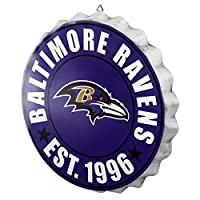 Baltimore Ravens NFL Bottle Cap Wall Sign