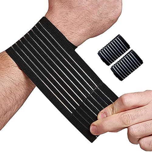 2 Pack Wrist Bands for Working Out,Breathable Tennis Wrist Support,Adjustable Carpal Tunnel Wrist Brace,Lightweight Wrist Wraps,Wristband Support for Men,Suitable for Various Fitness Sports Occasions