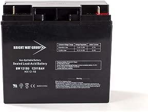 Bright Way Group 12V 18AH SLA Battery with F3 nut & bolt Terminal