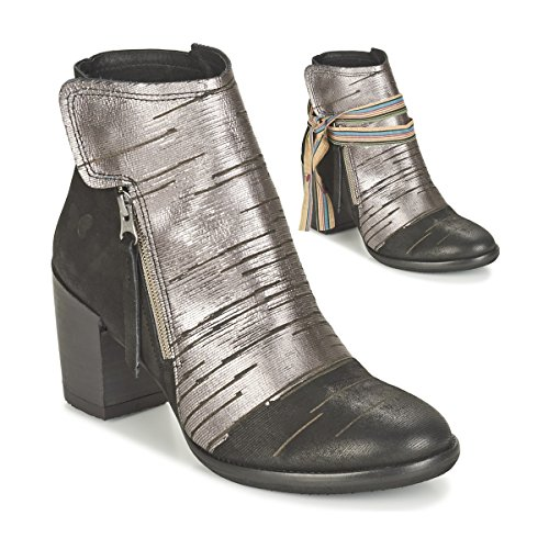 Felmini Carmen Stiefelletten/Boots Damen Schwarz/Silbern - 36 - Low Boots Shoes