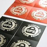 Set da 8 adesivi con avvisi (in inglese) di GPS interno alla bici, per biciclette da corsa, mountain...