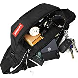 Fanny Pack Bag for Men&Women, Waist Pack Hip Bum Bag with Large Capacity Adjustable Strap and Headphone Jack for Outdoors Workout Traveling Casual Running Hiking Cycling Dog Walking Fishing