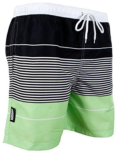 GUGGEN MOUNTAIN Herren Badeshorts Beachshorts Boardshorts Badehose gestreift *High Quality Print* Farbe gestreift XL