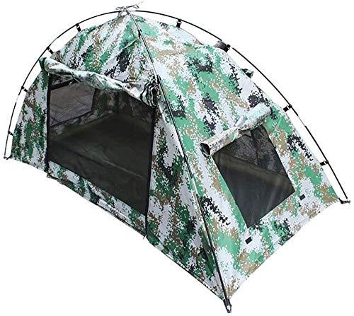 YAYY Lichtgewicht Waterdichte Tent Automatische Draagbare Pop Up Single Camouflage Beach Tent Waterdicht Anti UV met Rits Deur voor Camping Strand Vissen (Upgrade)