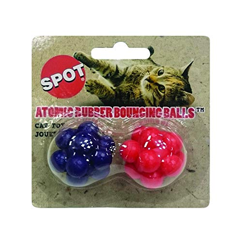 Ethical Atomic Bouncing Ball Cat Toy, 2-Piece (colors may vary)