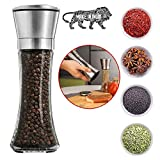 GETKO WITH DEVICE Premium Stainless Steel Salt and Pepper Grinder Tall Salt
