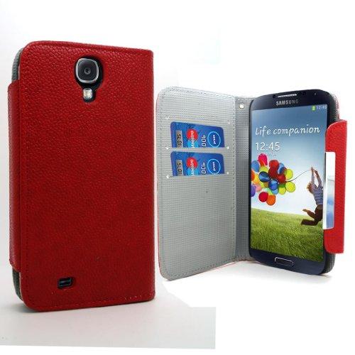 Accessory Master 5055716366075 slank rouge patroon boek PU lederen tas voor Samsung Galaxy S IV i9500