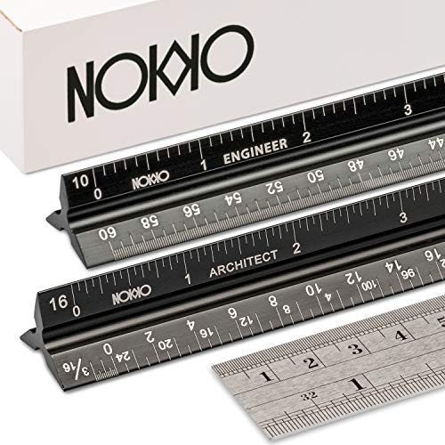 NOKKO Architectural and Engineering Scale Ruler Set - Professional...