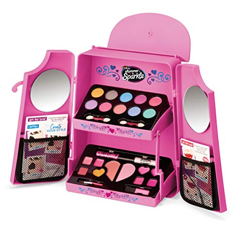 Shimmer and Sparkle 17905 Cosmetic Makeup Toy Set, Fold Out Backpack with Palette Vanity Kit, Colours May Vary
