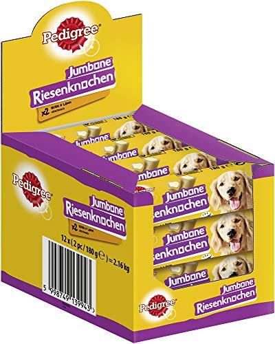 Pedigree Hundesnacks Riesenknochen für mittelgroße Hunde mit Huhn & Lamm, 24 Stück (12 x 2 Stück)