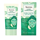Aveeno Clear Complexion Pure Matte Peel Off Face Mask with Alpha Hydroxy Acids, Soy & Pomegranate for Clearer-Looking Skin, Non-Comedogenic, Paraben- & Phthalate-Free, 2.0 oz