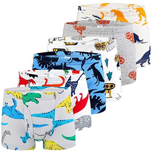 Auranso Boys Boxer Briefs Underwear Dinosaur 6 Pack Multicolored04 5