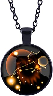 VINTAGE Horloge cabochon en verre Noir Chaîne Collier Pendentif