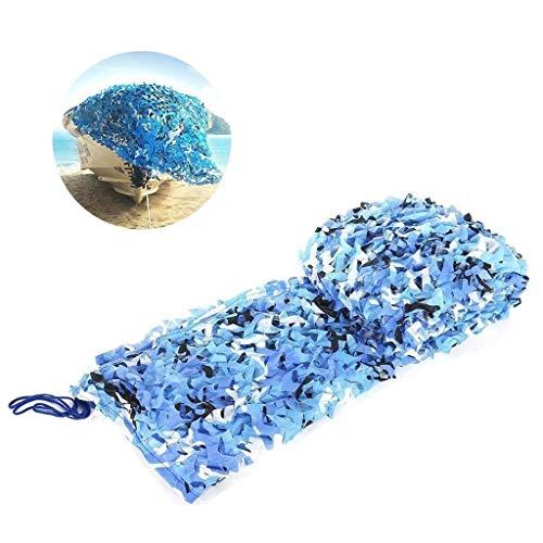 Qji-vangtype camouflage net zeeblauw, 4 x 6 m Oxfordstoff camouflagennet carport militair camouflagennet camping jachtschieten verborgen Halloween party zwembad zonneschijn tuindecoratie 2 m3 m5 m8 m10 m
