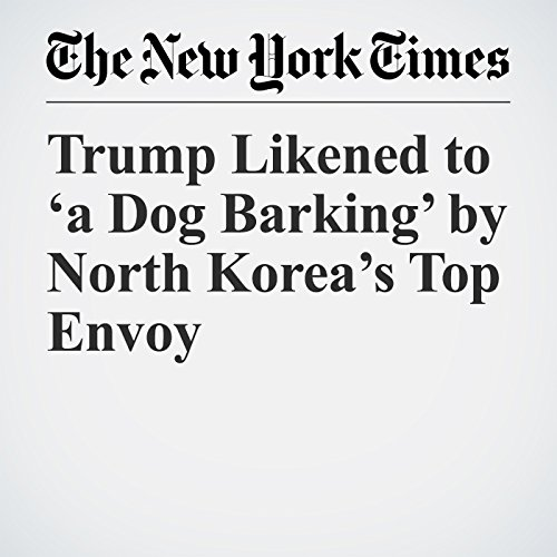 Trump Likened to 'a Dog Barking' by North Korea's Top Envoy copertina