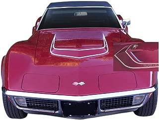 Phoenix Graphix 1970 1971 1972 Corvette C3 LT-1 Vinyl Hood Stripes Decals Kit - Black