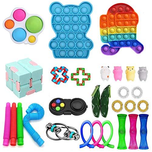 TBEONE Conjunto de brinquedos sensoriais de descompressão para alívio de estresse e ansiedade, conjunto de brinquedos para mãos para autismo, adultos e crianças