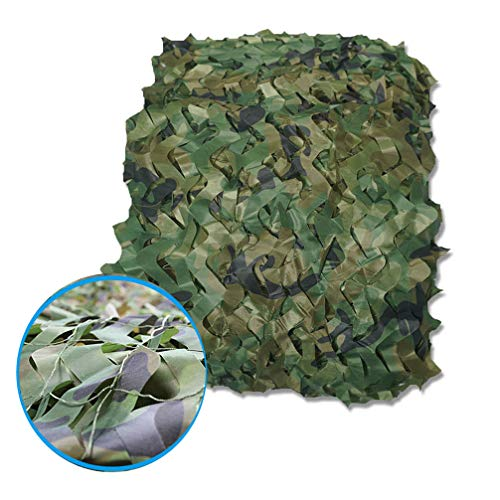 WWJQ Woodland Camo Netting Kids Camping Military Hunting Camouflage Net Oxford Sunscreen Net 6.5 * 9.8ft,6.5 * 13.1ft,9.8 * 9.8ft,9.8 * 13.1ft,13.1 * 16.4ft,32.8 * 32.8ft