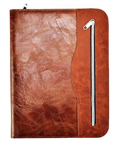 Arpan, cartella portadocumenti per conferenze, formato A4, con calcolatrice e blocco, colore: marrone cioccolato