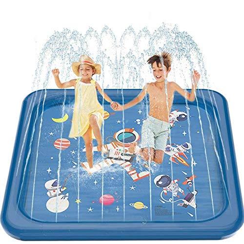 YLJYJ Aufblasbares PVC-Raumspritzkissen, 68-Zoll-Spritzschutz für den Außenbereich Planschbecken Eltern-Kind-Interaktives Spielzeug, Sommer-Schlauchboot (Schwimmen)