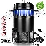 Masthome 40qm Insektenvernichter,UV Insektenschutz Elektrisch Mückenlampe,Leicht und Sicher Mückenschutz,Moskito Killer geeignet für Zimmer