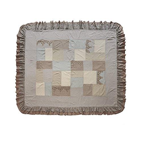 Loberon Quilt Labastide, Baumwolle/Leinen, H/B ca. 260/240 cm, grau/beige