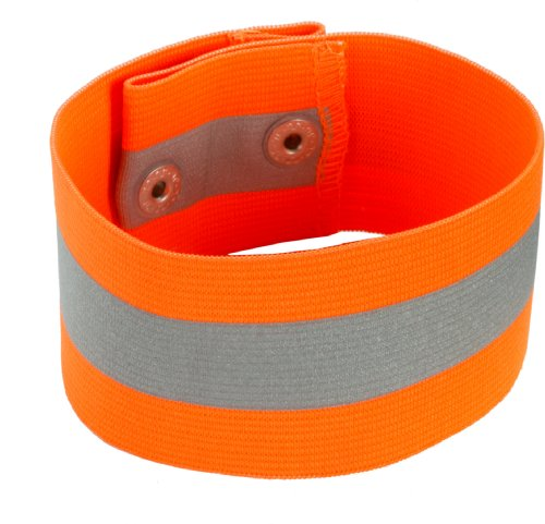 Ergodyne GloWear 8001 High Visibility Reflective Arm/Leg Band - Snap Closure, Orange, Large/X-Large