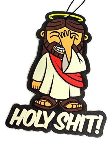 DUB SPENCER Duftbaum Holy Sh*t | Duft fürs Auto in Jesus Form | Lufterfrischer Air Freshener - Dub (Duft: Bubblegum)