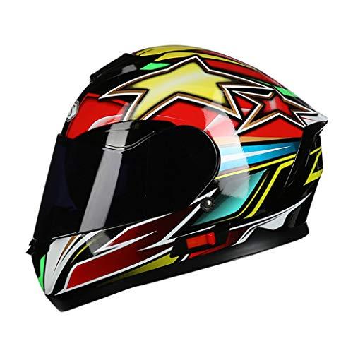 GHMH-helmet Casque de Moto de Plein air sécurité Pleine Couverture Quatre Saisons Casque Unisexe (Couleur : C, Taille : XL)