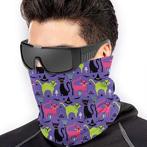 NA Anitdust Bandana,Halloween Red Green Cat Gesicht Kopfbedeckung Bandana, Einzigartige Coole Stirnband Schal Zum Skifahren Unisex Adult,26X30Cm