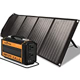 ROCKPALS 250W Portable Power Station and ROCKPALS 100W Upgraded Solar Panel, Great Solar Generator for Backup Power, Outdoor Adventure and Camping