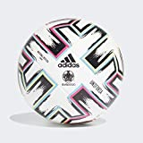 adidas UNIFO LGE Balón de Fútbol, Men's, White/Black/Signal Green/Bright Cyan, 5
