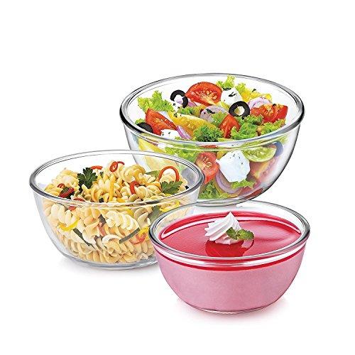 Treo Borosilicate Microwave Safe Mixing Glass Bowl , 500, 1000, 1500 ml...