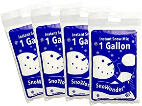SnoWonder Instant Snow Fake Artificial Snow, Also Great for Making Cloud Slime - Mix Makes 4 Gallons of Fake Snow