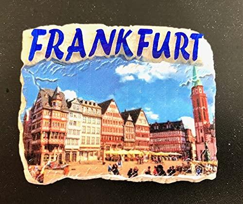 Frankfurt am Main ,Deutschland, 3D Kühlschrankmagnet Souvenir, Polyresin ,Fridge Magnet,Germany 260308