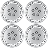 14 inch Hubcaps Best for 1997-1999 Toyota Camry - (Set of 4) Wheel Covers 14in Hub Caps Silver Rim Cover - Car Accessories for 14 inch Wheels - Snap On Hubcap, Auto Tire Replacement Exterior Cap