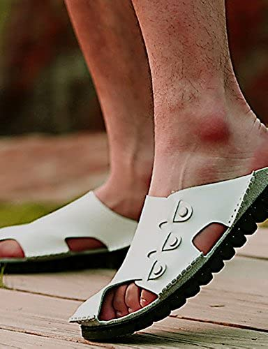 NTX Herren Schuhe Outdoor Athletic Casual Leder Hausschuhe Schwarzbraun Weiß