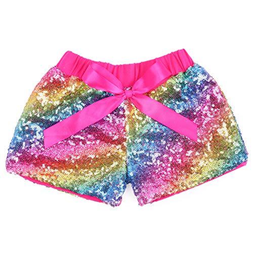 Cilucu Baby Mädchen Shorts Kleinkind Pailletten Shorts Sparkles auf beiden Seiten - - XX-Large (5 Jahre)