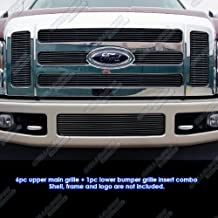 APS Compatible with 08-10 Ford F250 F350 SD Black Billet Grille Combo F67803H