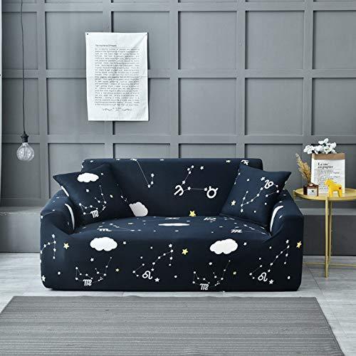 KTUCN Funda de sofá, Funda de sofá con diseño de Hojas de Plantas de Flores, Fundas elásticas de Cuatro Estaciones, Asiento de 1/2/3/4, Modelo 19, 1pc Cushion Cover