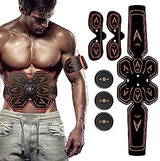 SHENGMI ABS Stimulator Muscle Toner Abdominal Toning Belt Workouts Portable EMS Training Home Office Fitness Equipment for Abdomen/Arm/Leg Training(USB Charging)